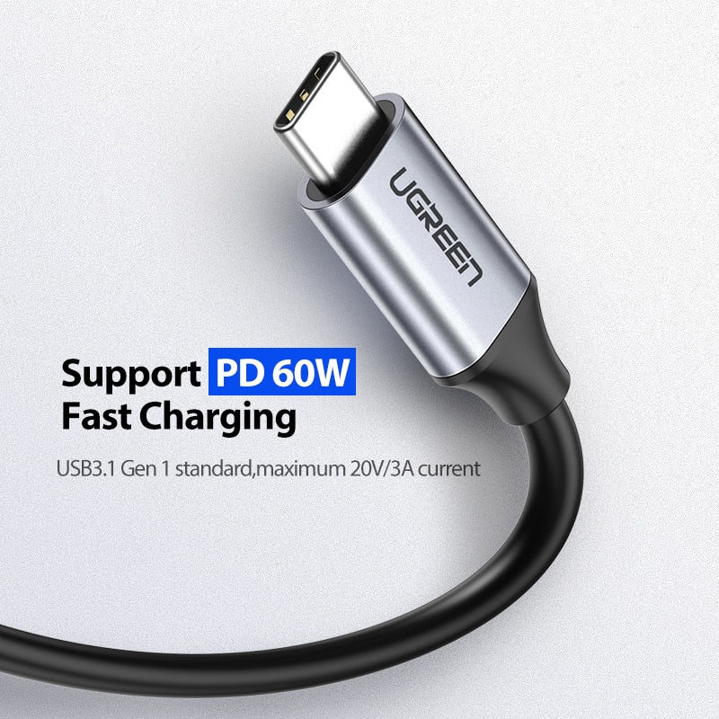 PD 60W Quick Charge USB Type C to C