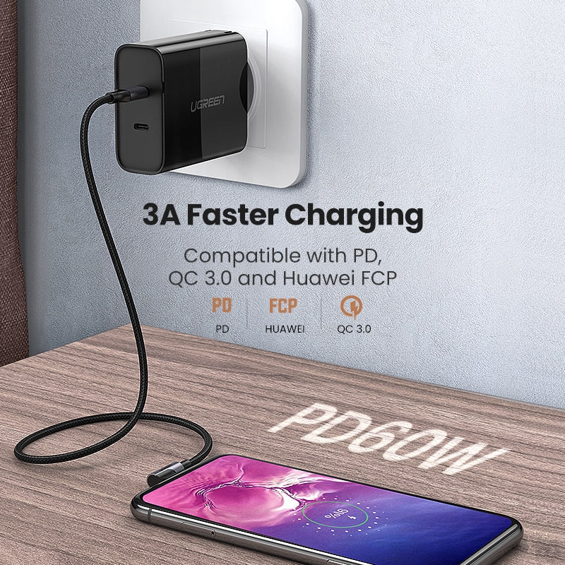 USB Type C to C Fast Charge Quick Charge 4.0 USB-C Cable