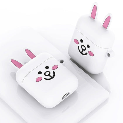 Universal Airpods Case Cute Cartoon Silicone For AirPods 2