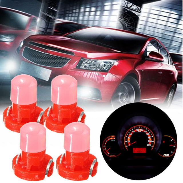 10x T3 LED Car Light Bulb Cluster Gauges Dashboard White / Yellow/ Blue / Red / Green instruments Panel Climate Base Lamp Light