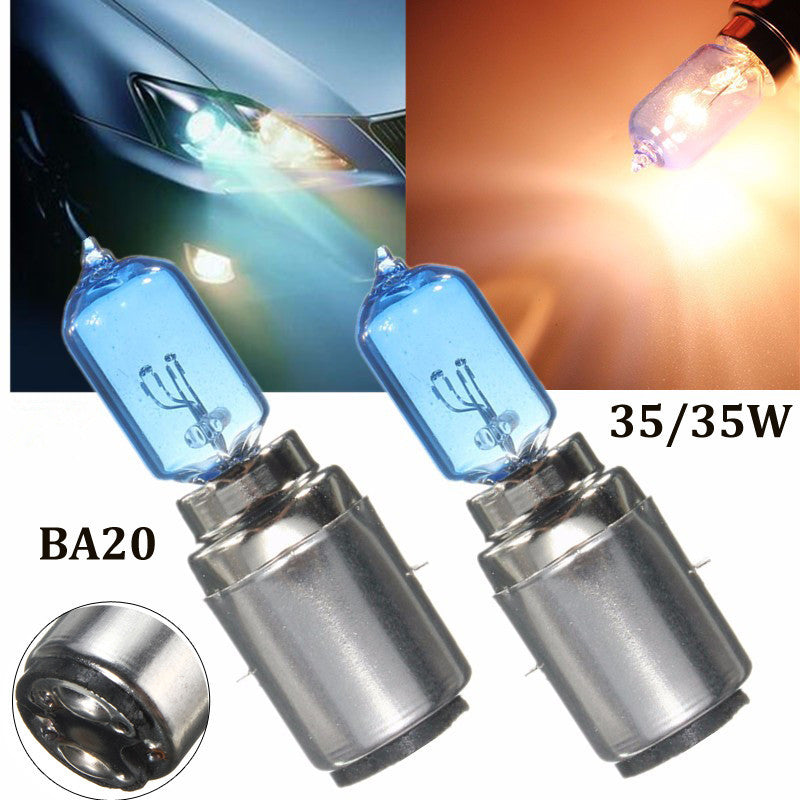 BA20D M5 35/35W 900lm Hi/Low Dual Beam Pure White Halogen Motobike Head Lamp Bulbs Car Motorcycle Headlight Blub DC 12V