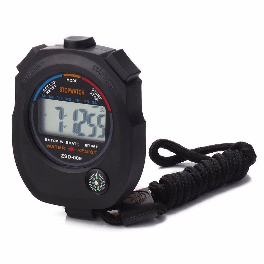 High Quality New Brand Sportwatch Waterproof Digital LCD Stopwatch Chronograph Timer Counter Sports Alarm