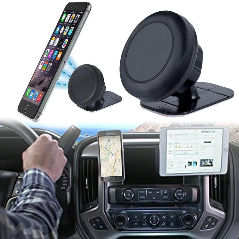 2017 Car-styling 360 Universal Car Phone Holder Stick On Dashboard Magnetic Car Mount Holder Cradle For Phone