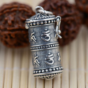 925 Sterling Silver Pendant Ga box Cylindrical S925 Solid Thai Silver Pendants Pendant Women Jewelry