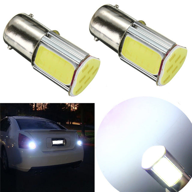 2pcs Car Light COB LED Bulb 1156 BA15S P21W Auto Car Lamp Parking Stop Tail Light Bulbs