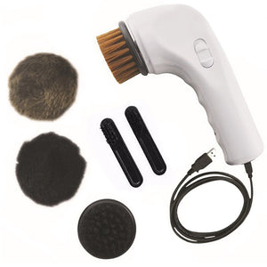 USB Charger Electric Shoe Brush Cleaning Polishing Brush Shoe Care Kit Car Chargeing Handle Brush Machine For Leather Shoes