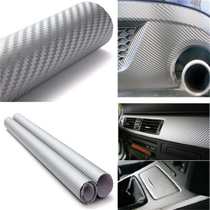 127X30cm 3D Black Carbon Fiber Vinyl Film Car Accessories Motorcycle Carbon Fibre Car Wrap Sheet Roll Film Stickers Car Styling 12 Colors