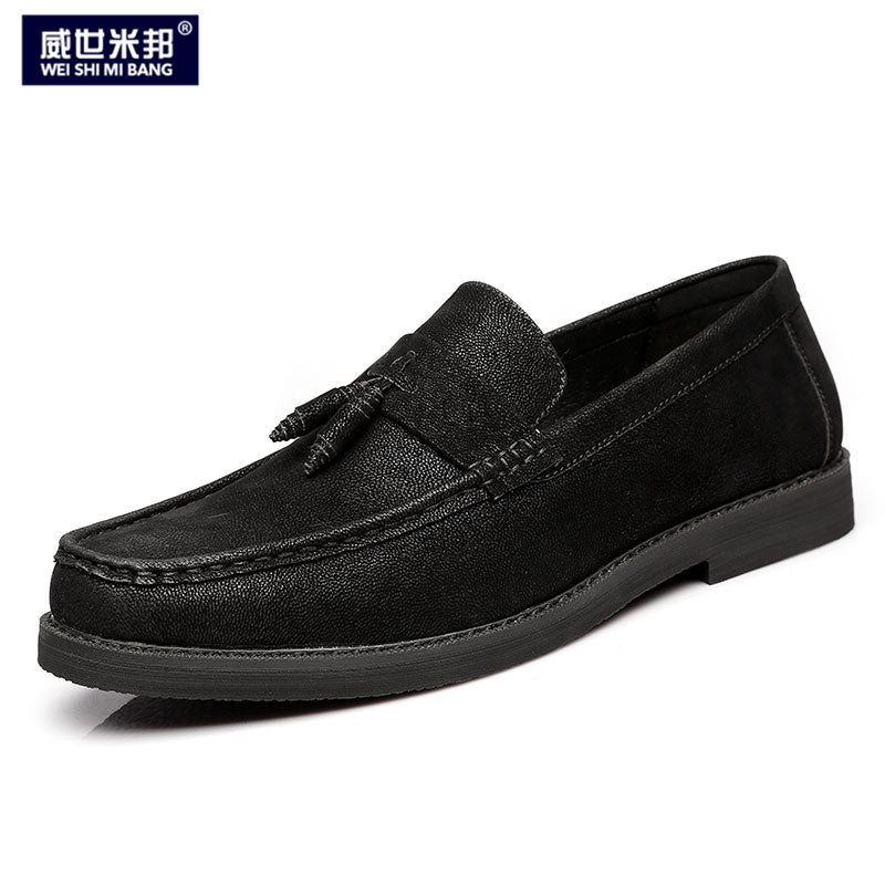 US Size 6 -9  Mens Retro SLIP-ON Tassel Loafer Driving Car Shoes Business Man Casual Leather Shoes
