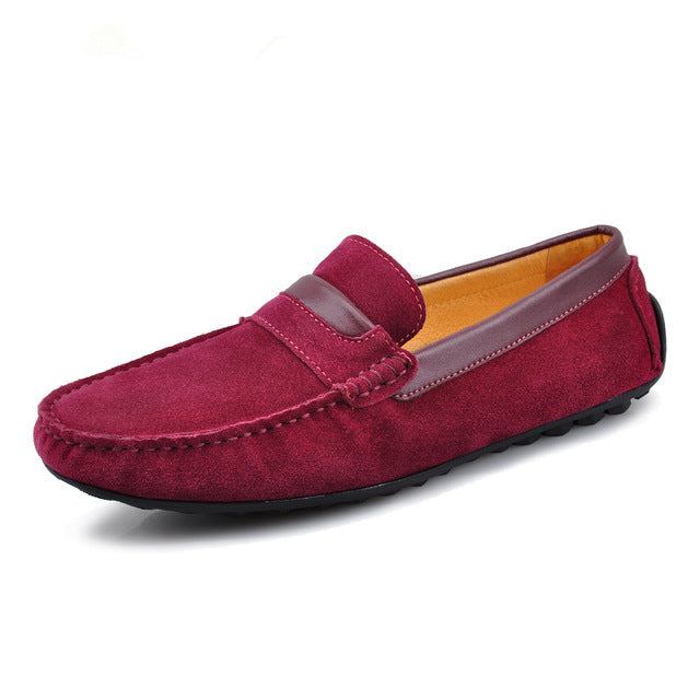 Hight Quality Brand New US 6-10 Cow Suede Leather Moccasins Mens Slip On Loafers Casual Driving Car Shoes Boat Shoes