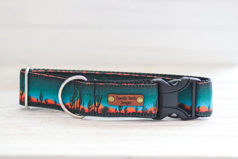 Exclusive Eco-Friendly Canvas Sahara Desert Dog Collar