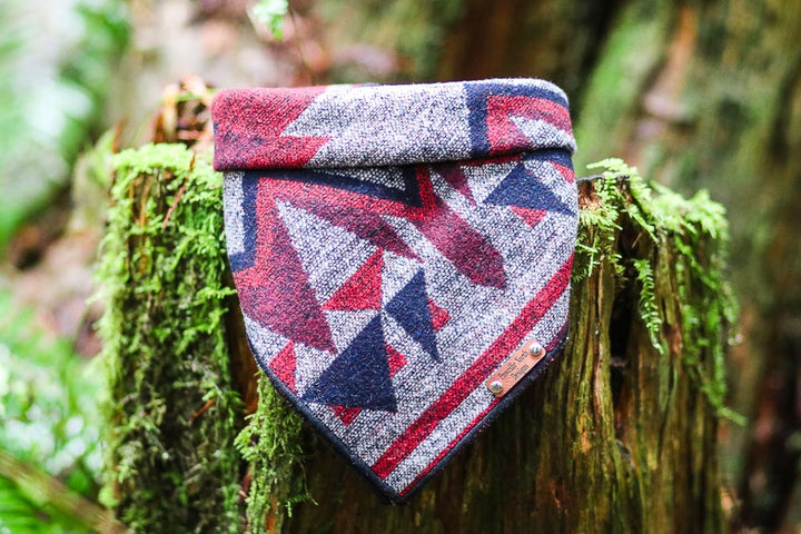 Maroon Peak Snap on Dog Bandana