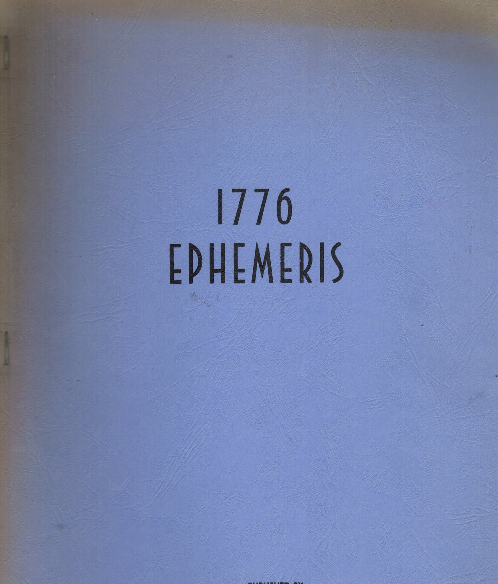 EPHEMERIS, 1776 - books-new