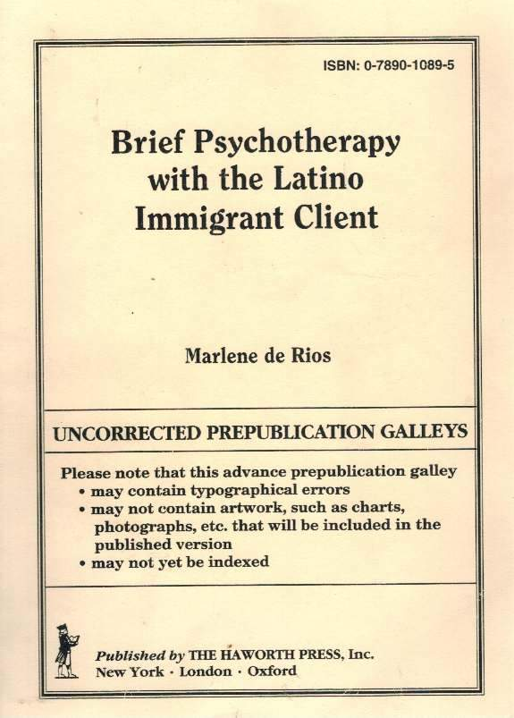 Brief Psychotherapy with the Latino Immigrant Client - books-new