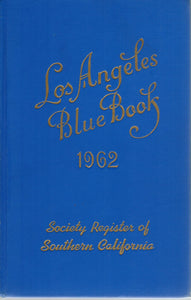 LOS ANGELES BLUE BOOK  1962 Society Register of Southern California - books-new