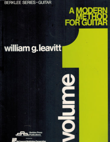 A MODERN METHOD FOR GUITAR - VOLUME 1  by Leavitt, William