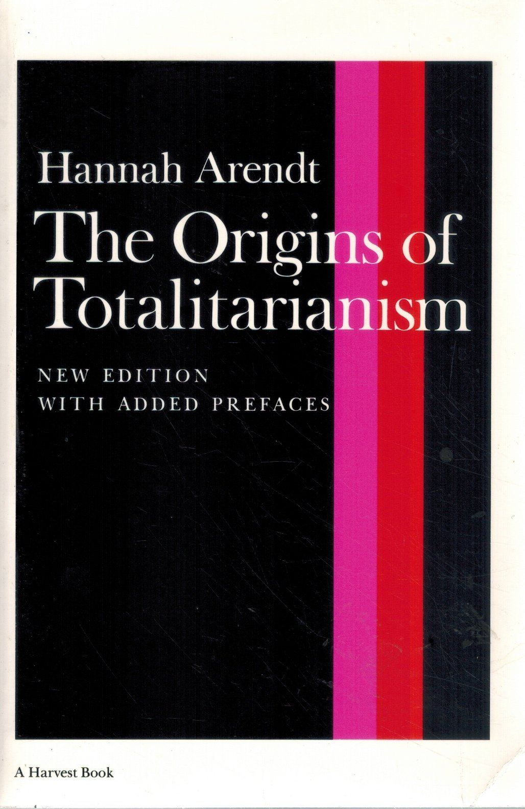 THE ORIGINS OF TOTALITARIANISM  by Arendt, Hannah
