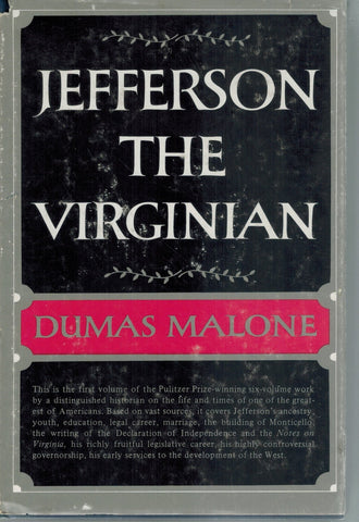 JEFFERSON THE VIRGINIAN *VOLUME ONE*  by Malone, Dumas