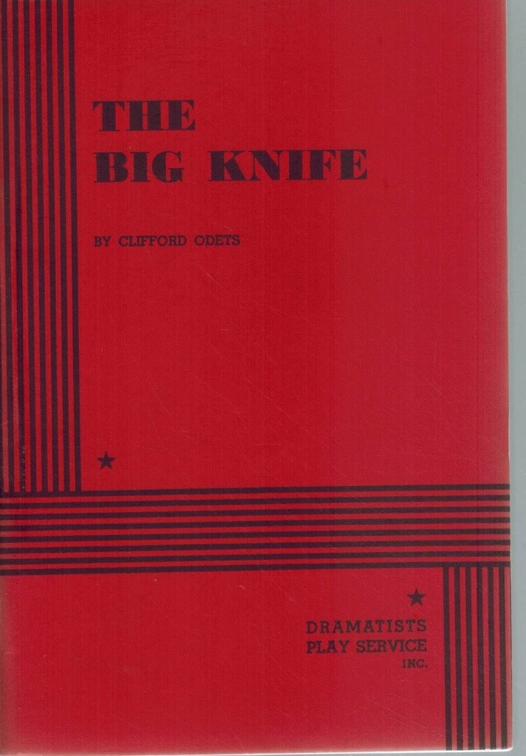 THE BIG KNIFE  by Odets, Clifford