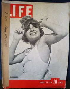 LIFE MAGAZINE, AUGUST 29, 1938  by Luce, Henry R.