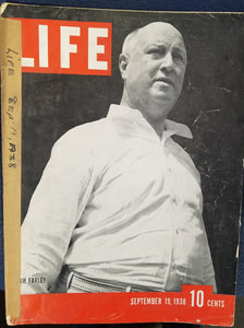 LIFE MAGAZINE - SEPTEMBER 19, 1938 - JAMES A. FARLEY Cover : James A.  Farley  by Life Magazine Staff Writers & Henry R. Luce