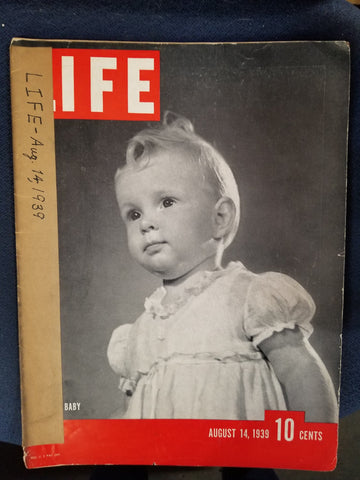 LIFE MAGAZINE - AUGUST 14, 1939  by Luce, Henry R.