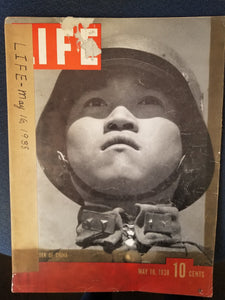 "LIFE MAGAZINE MAY 16, 1938 ""A Defender of China""  by Henry R. Luce, Ed."