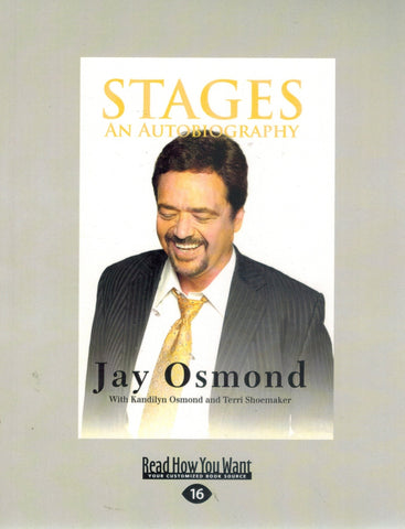 STAGES An Autobiography  by Osmond, Jay