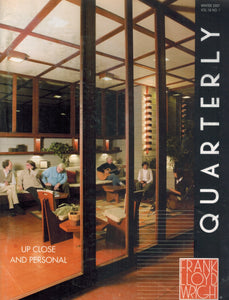 FRANK LLOYD WRIGHT QUARTERLY WINTER 2007 VOL. 18 NO. 1  by Lucas, Suzette
