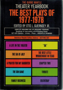 THE BEST PLAYS OF 1977-1978  by Guernsey, Otis