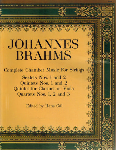 COMPLETE CHAMBER MUSIC FOR STRINGS AND CLARINET QUINTET SCORE  by Gal, Hans