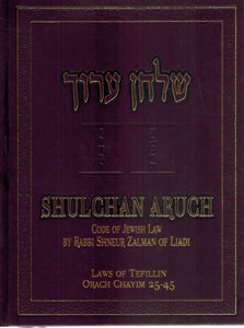 SHULCHAN ORUCH ENGLISH VOL 2 ORACH CHAIM 25-45  by Zalman, Shneur & Eliyahu Touger & Uri Kaploun