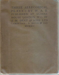 Three Allegorical Plays  by W. A. P.