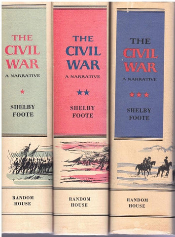THE CIVIL WAR: A NARRATIVE (THREE-VOLUME SET)  by Foot, Shelby
