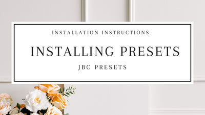 How Do I Install My JBC Presets?
