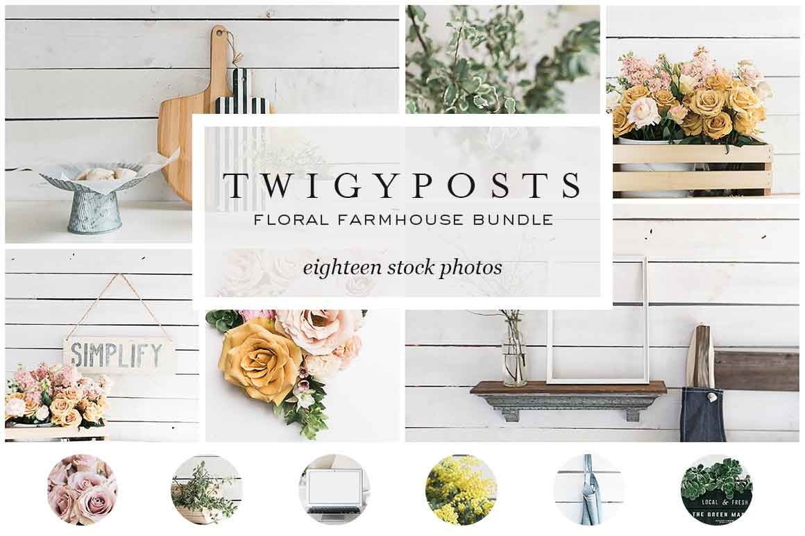 Floral Farmhouse Stock Photo Bundle