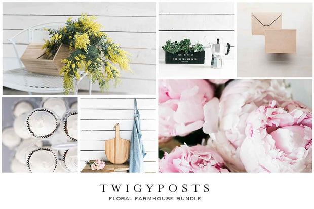 twigyposts,Floral Farmhouse Stock Photo Bundle,TwigyPosts,Photo Bundles