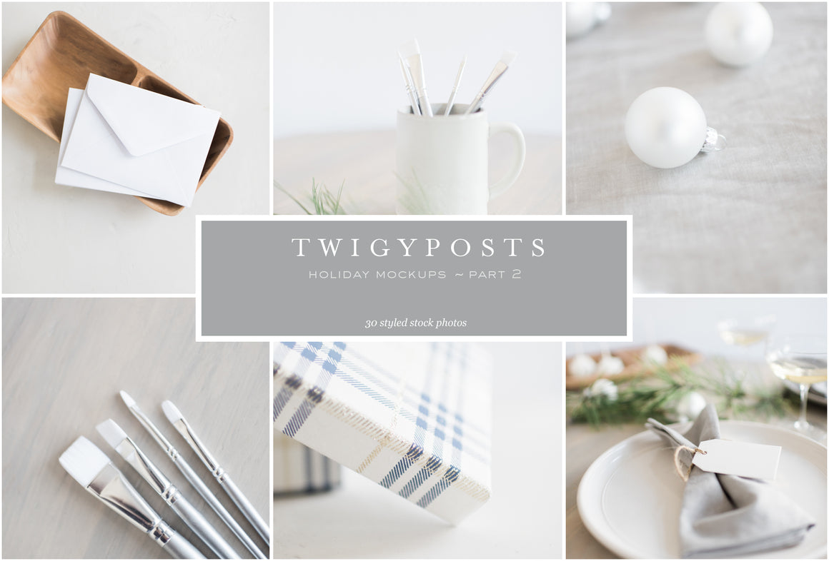 Holiday Mockups Part 2 | Gift Tags & Envelopes