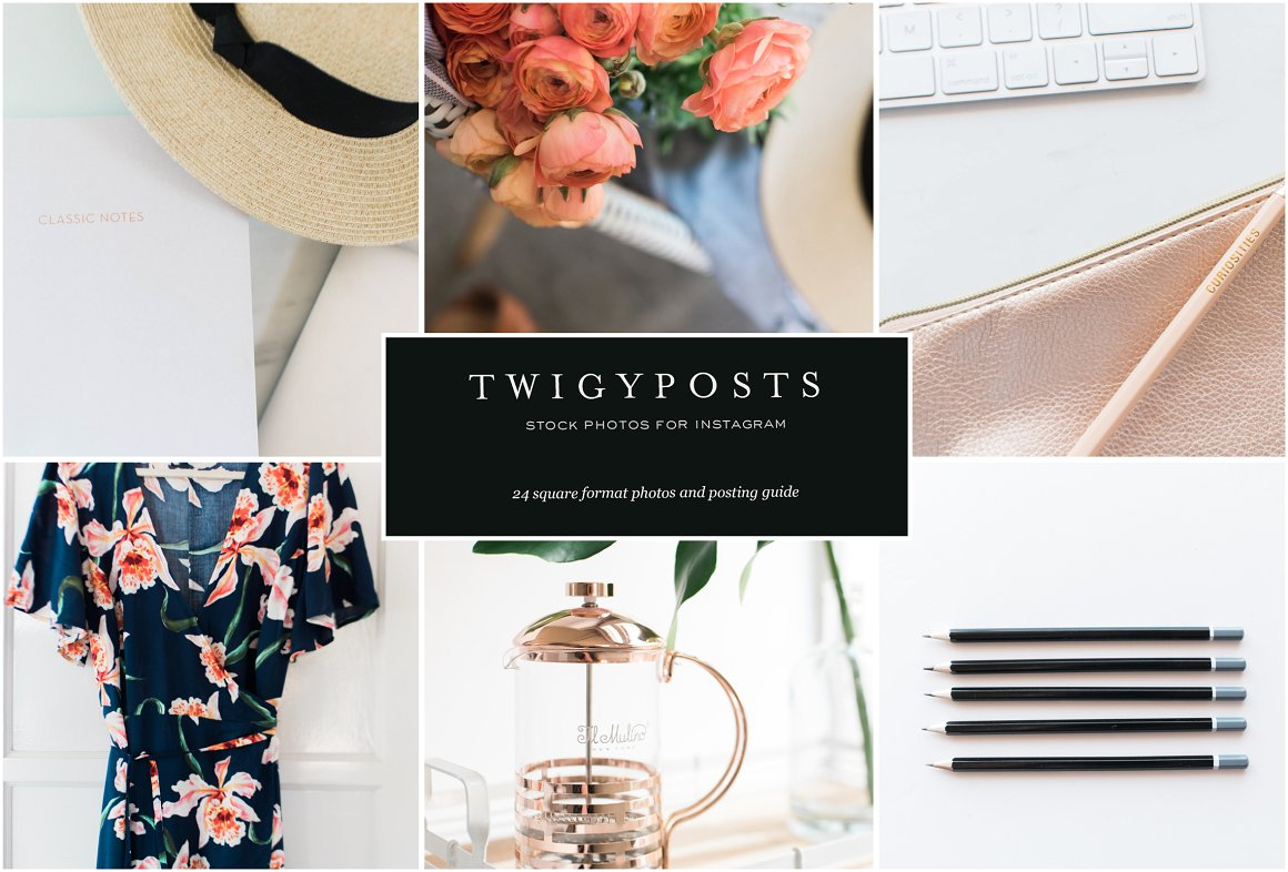 twigyposts,Instagram Bundle #1 | Styled Stock Photos,TwigyPosts,Square Stock Photos for Instagram