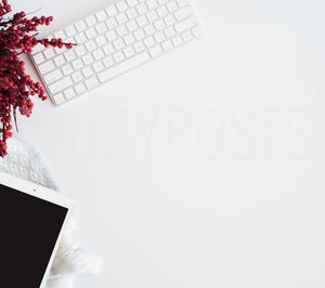 Christmas Desk with iPad