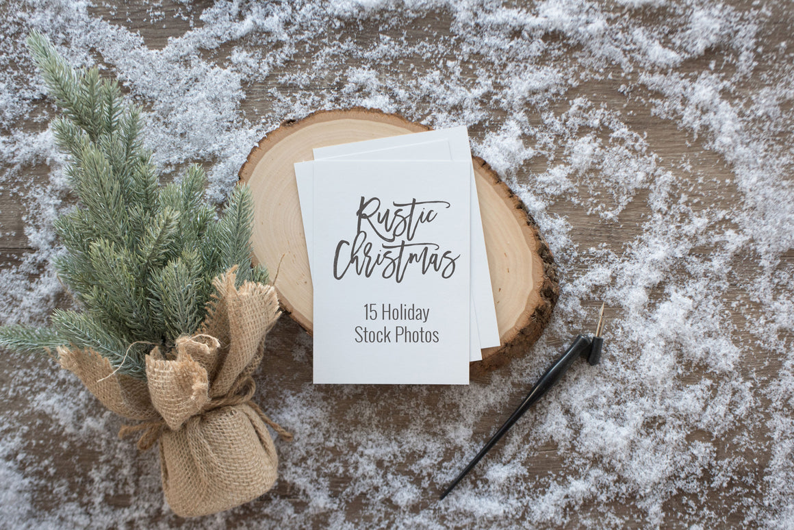 Rustic Christmas Stock Photos & Mockups