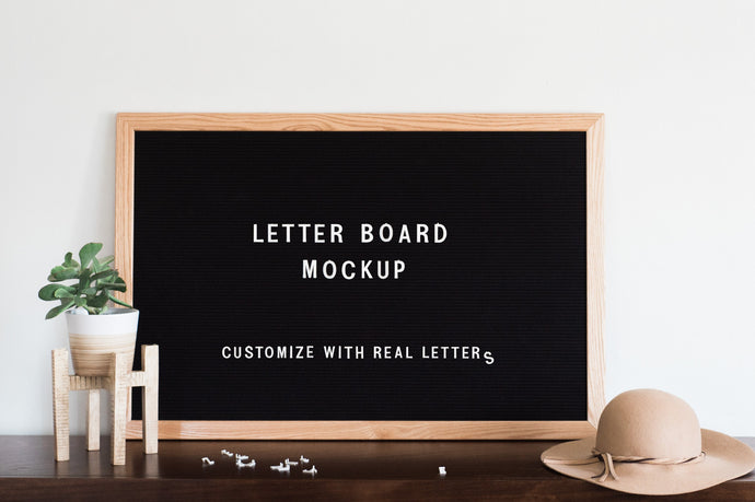 Letter Board Mockup PSD + Stock Photos