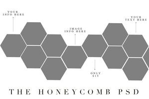 SALE! Honeycomb PSD template