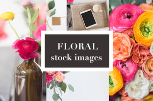 Floral Stock Images for Bloggers