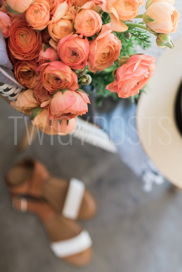 twigyposts,Floral Scene with Bistro Chair,TwigyPosts,Individual Stock Photos