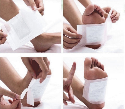 Healthy Slimming Foot Patches with Adhesive Feet care Detox Bamboo Pads