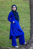 Pants Suit in Royal Blue