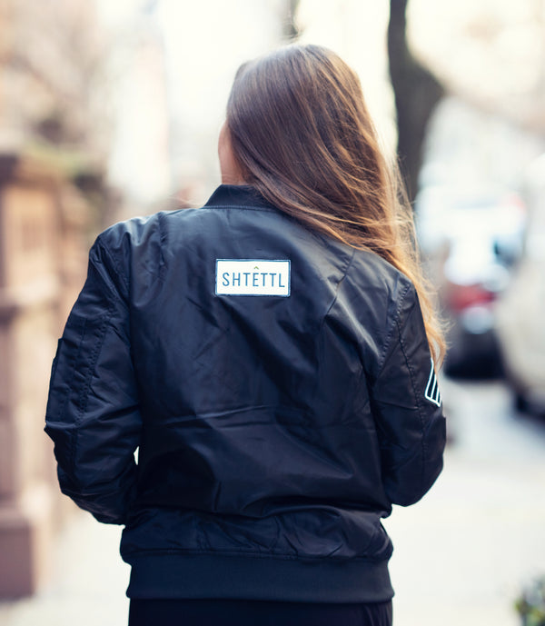 Black Bomber Jacket - Shtettl