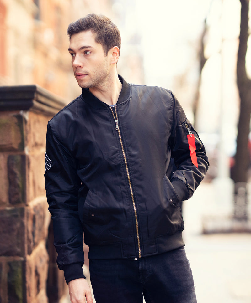 Black Bomber Jacket  [SOLD OUT]