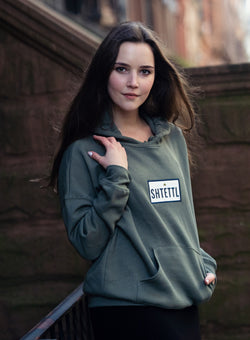 Army Green Patch Hoodie