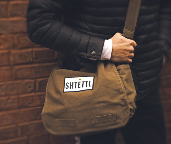 Cotton Canvas Messenger Bag - Shtettl